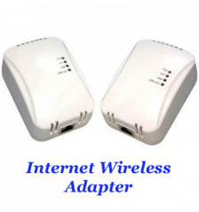 Powerline Network adapter kit (2 pcs) 85Mbps for electrical outlets