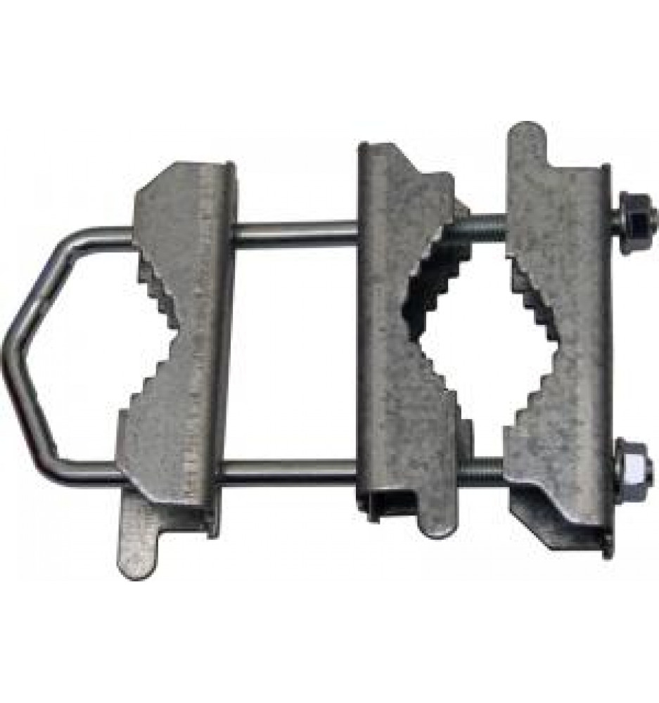 Mast bracket for pipe 38 / 50mm + 3 Clamps