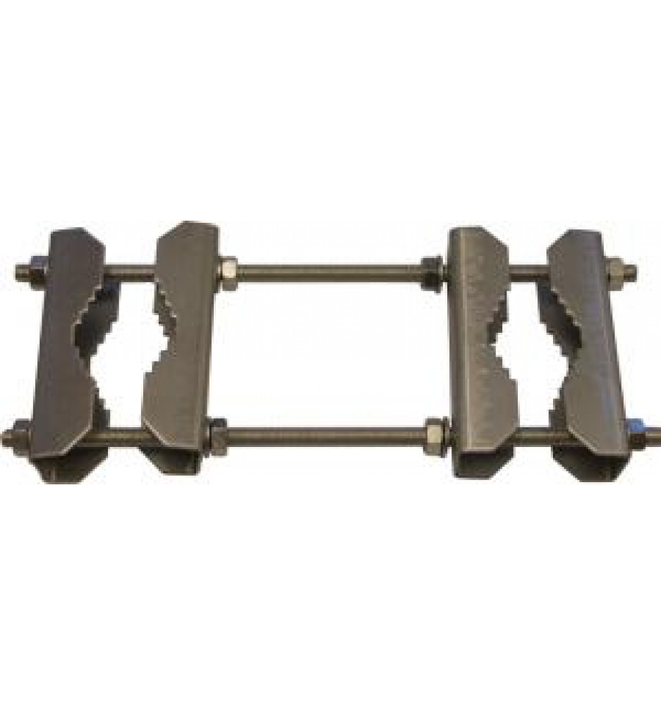 2x rod threaded+4x clamps, pipe 35-60mm
