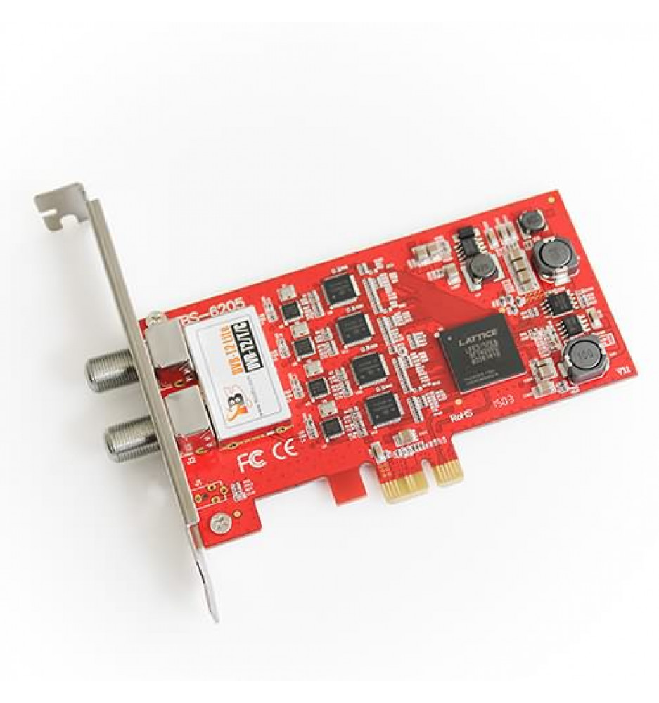 TBS6205 DVB-T2 / T / C Quad TV-tuner PCIe-kort