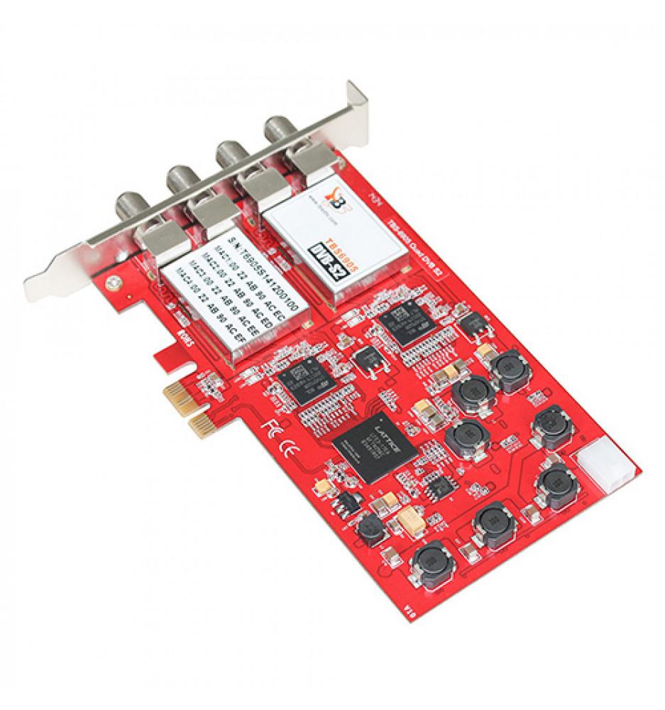 TBS6905 DVB-S2 Quad Tuner PCIe Card